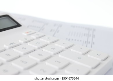 Financial documents and calculator, Financial concept.