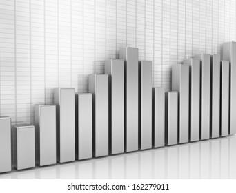 Financial graph 3d illustration