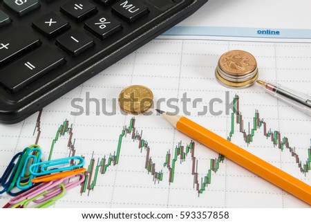 financial graph on white background calculator stock photo edit now