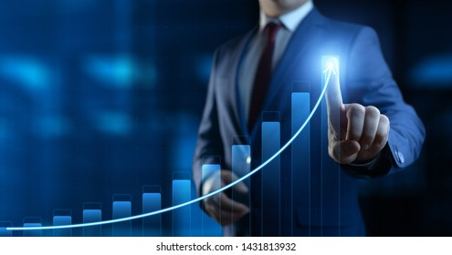 Financial Graph. Stock Market chart. Forex Investment Business Internet Technology concept