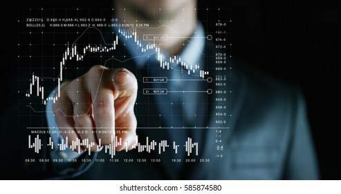 financial graphic in the hands of an experienced seller or bank or insurance broker. concept for investment and passive income for retirement and annuities also health insurance concept