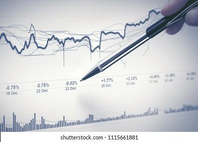 Financial graphs analysis stock market charts