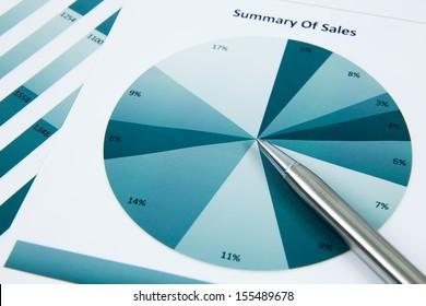 Financial graphs and charts analysis