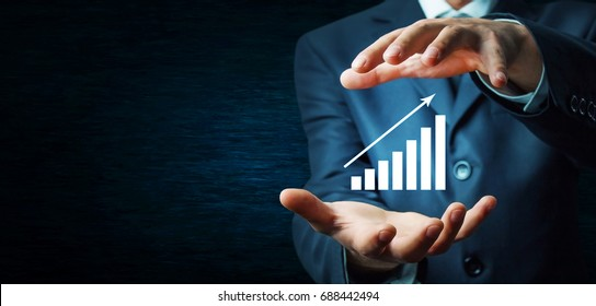 Financial growth chart.Investment concept.