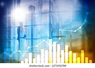 Financial growth graph. Sales increase, marketing strategy concept.