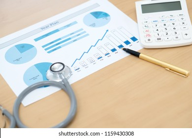 Financial Health Check or Cost of Healthcare Concept