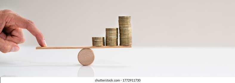 Financial Leverage Balance And Inflation Insurance Concept