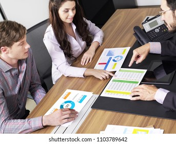 Financial meeting concept