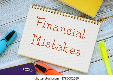 Financial Mistakes phrase on the page.