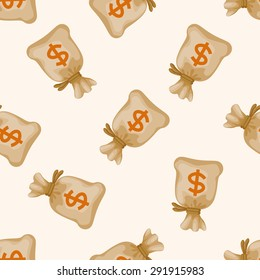 Financial money , cartoon seamless pattern background
