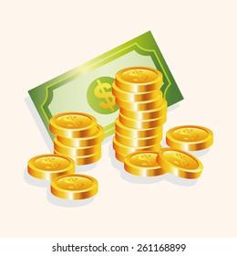 Financial money cash theme elements