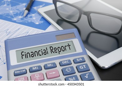 Financial Report   ( Money Cash Growth Analysis ) Calculator  on table with Office Supplies. ipad
