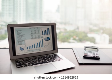 financial report spreadsheet.  business accounting software on computer screen.