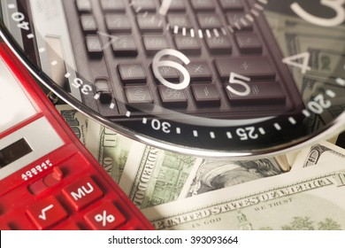 financial report. time is money and wealth. concept of time and money.
