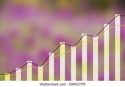 financial rise chart