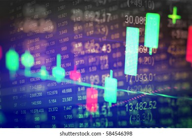 """FINANCIAL SERVICE concept with Data analyzing in Forex, Commodities, Equities, Fixed Income and Emerging Markets. the charts and summary info show about """"Business statistics and Analytics value""""."""