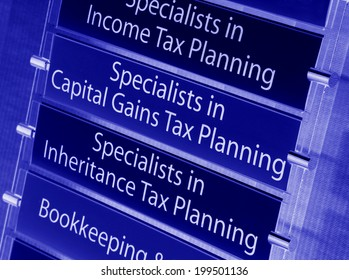 Financial services specialized in tax planning