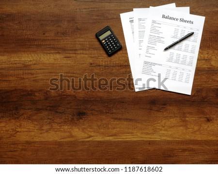 financial statement balance sheet summary report stock photo edit