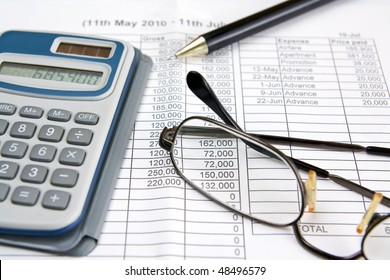 Financial statement for money calculation