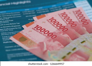 Financial Statements under Indonesian Rupiah at annual report