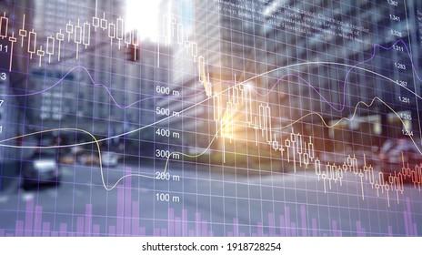 Financial stock accounting graphs analysis.