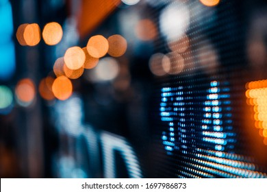 Financial stock exchange market display screen board on the street, selective focus - Shutterstock ID 1697986873