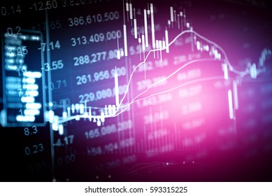 financial stock market graph on technology abstract background