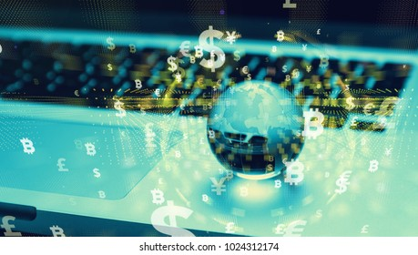 Financial technology concept.