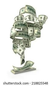 Financial Tornado from dollar bills