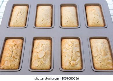 Financier Cakes, French snack.
