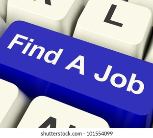 Find A Job Computer Key Shows Work And Careers Search Online