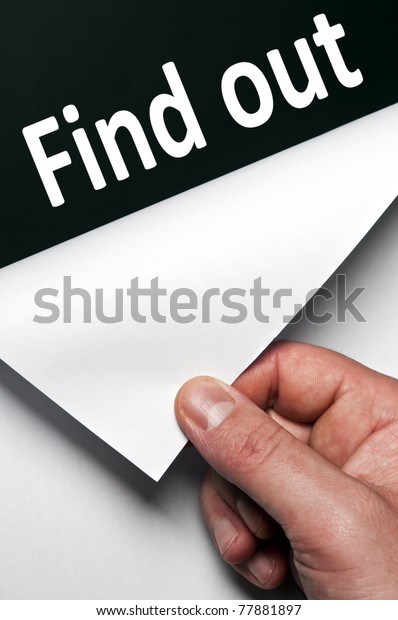 Find out word discovered by male hand