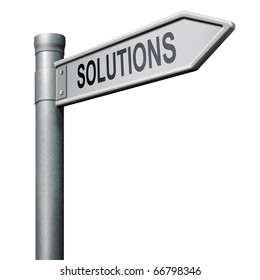 find solutions road sign indicating way to problem solving solution button solutions icon isolated arrow