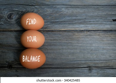 Find your balance. Health conceptual. Top view with copy space.