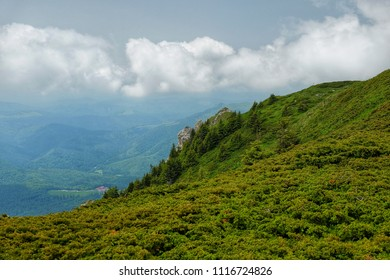 Finding freedom in the mountains. Ciucas Mountains in Romania.