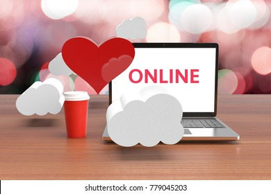 Finding love notebooks online. Valentine's Day Message Love the Internet. Find Love Online. The concept of love. 3D render