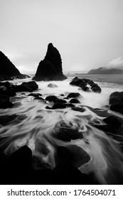 fine art bw payangan beach slow speed motion water