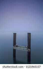 Fine art photo with broken pier and sea