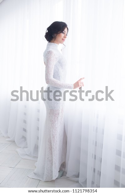fine art portrait of a girl in vintage dress