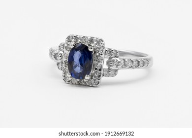 Fine diamond and gemstone ring in platinum white or yellow gold two tone fashion jewelry