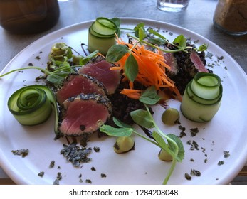Fine Dining - Deconstructed Beef Sushi
