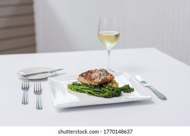Fine Dining - Fish and Broccolini