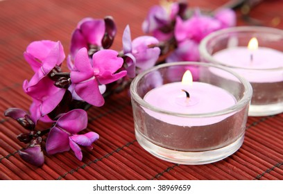 Fine flowers and candles