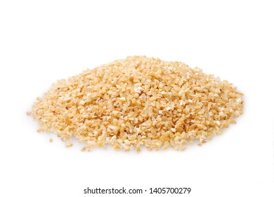 Fine ground durum wheat on white background