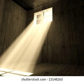 fine image 3d of dark jail