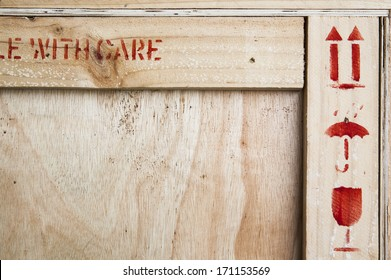 Fine image close-up of fragile symbol on wood board.