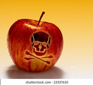 fine image of red poison apple