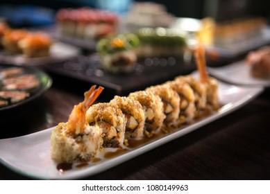 Fine japanese tempura roll