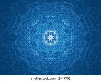fine lined blue kaleidoscope