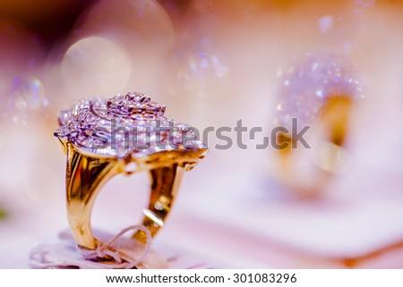 Fine Luxury Diamond Jewellery Window Display Stock Photo Edit Now